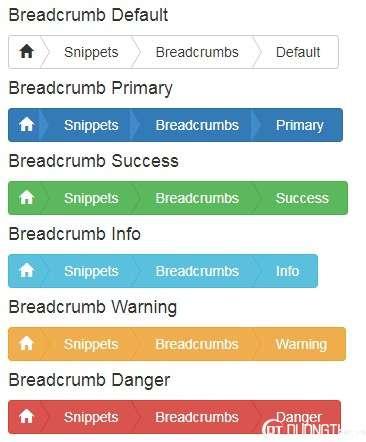 Một số mẫu Breadcrumbs dùng Bootstrap tuyệt đẹp