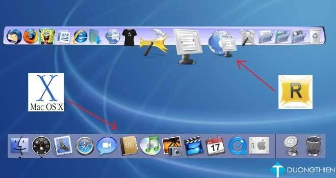 RocketDock-v1.3.5 – Tạo Taskbar theo phong cách riêng
