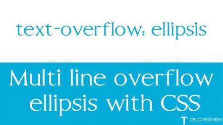 Ẩn text thừa trên nhiều dòng với text-overflow trong CSS