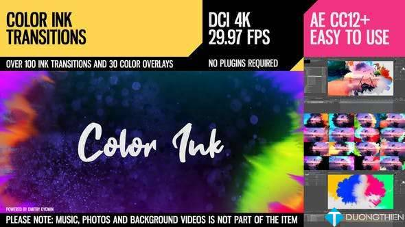 [AE Project]100 Color Ink Transitions